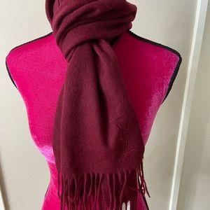 Yves Saint Laurent wool burgundy scarf